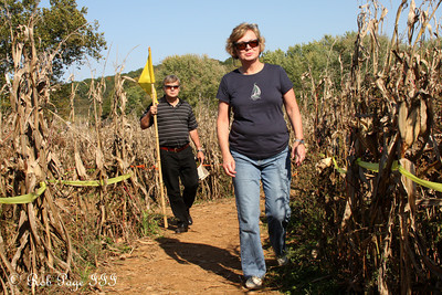 Mom and Dad make their way through the maze at the Corn Maze in the Plains - The Plains, VA ... October 10, 2010 ... Photo by Rob Page III