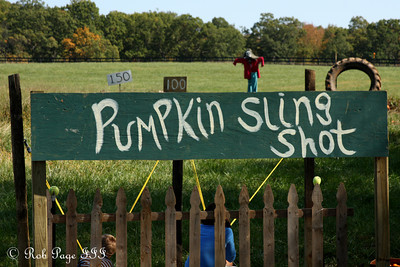 The pumpkin slingshot at the Corn Maze in the Plains - The Plains, VA ... October 10, 2010 ... Photo by Rob Page III