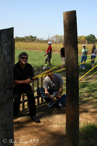 Playing with the slingshot at the Corn Maze in the Plains - The Plains, VA ... October 10, 2010 ... Photo by Emily Page