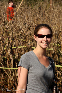 Emily makes her way through the corn at the Corn Maze in the Plains - The Plains, VA ... October 10, 2010 ... Photo by Rob Page III