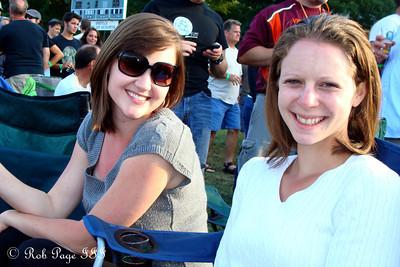 Whitney and Emily at the Asheville BrewGrass Festival - Asheville, NC ... September 17, 2011