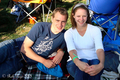 Rob and Emily at the Asheville BrewGrass Festival - Asheville, NC ... September 17, 2011 ... Photo by Emily Page