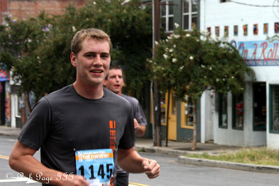 Rob running in the Asheville Half Marathon - Asheville, NC ... September 17, 2011 ... Photo by Emily Page
