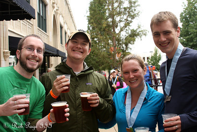 Enjoying a drink after the half-marathon - Asheville, NC ... September 17, 2011 ... Photo by Emily Page