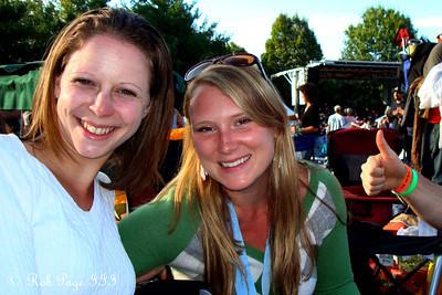Emily and Meghan at the Asheville BrewGrass Festival - Asheville, NC ... September 17, 2011