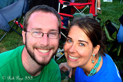 Mike and Emily at the Asheville BrewGrass Festival - Asheville, NC ... September 17, 2011
