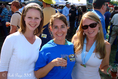 Emily, Emily, and Meghan at the Asheville BrewGrass Festival - Asheville, NC ... September 17, 2011