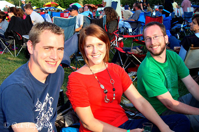 Rob, Rachel, and Mike at the Asheville BrewGrass Festival - Asheville, NC ... September 17, 2011