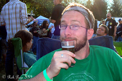 Mike at the Asheville BrewGrass Festival - Asheville, NC ... September 17, 2011