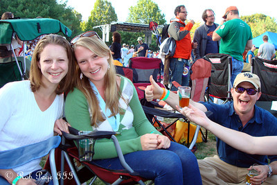 Emily, Meghan, and Jay at the Asheville BrewGrass Festival - Asheville, NC ... September 17, 2011