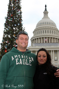 Cliff and Paola in front of the Capitol - Washington, DC ... December 31, 2011 ... Photo by Rob Page III