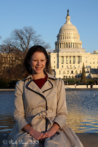 Emily in front of the Capitol - Washington, DC ... December 31, 2011 ... Photo by Rob Page III