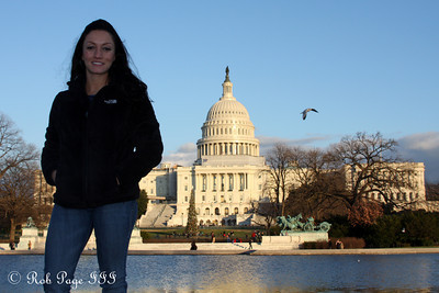 Paola in front of the Capitol - Washington, DC ... December 31, 2011 ... Photo by Rob Page III