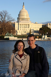 Rob and Emily enjoy the beautiful day - Washington, DC ... December 31, 2011 ... Photo by Cliff Meston