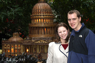 Rob and Emily at the Botanical Garden - Washington, DC ... December 31, 2011 ... Photo by Cliff Meston