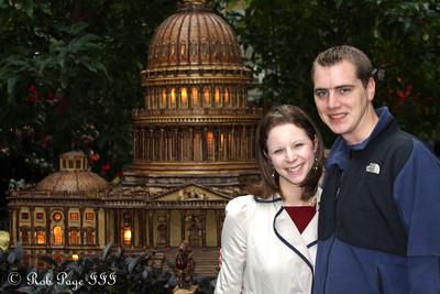 Rob and Emily at the Botanical Garden - Washington, DC ... December 31, 2011 ... Photo by Cliff Meston