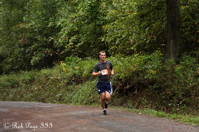 Rob running through the forest - DC Ragnar Relay ... September 23, 2011