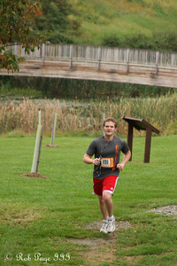 Garret finishes his first run - DC Ragnar Relay ... September 23, 2011