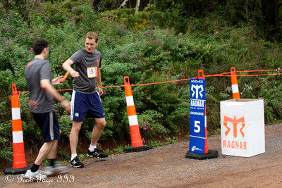 Dante hands off to Rob - DC Ragnar Relay ... September 23, 2011