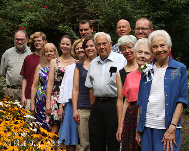 Grammy Conger's birthday contingent - Asheville, NC ... August 7, 2011 ... Photo by Rob Page III