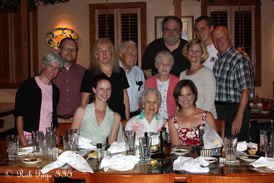 Enjoying dinner for Grammy Conger's birthday - Asheville, NC ... August 6, 2011