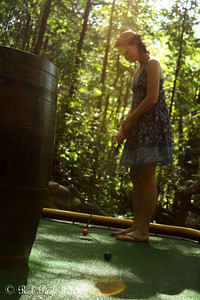 Emily plays mini-golf - Gatlinburg, TN ... August 2, 2011 ... Photo by Rob Page III