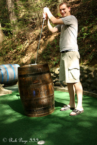 Rob enjoys playing some minigolf - Gatlinburg, TN ... August 2, 2011 ... Photo by Emily Page