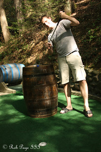 Rob playing some mini-golf - Gatlinburg, TN ... August 2, 2011 ... Photo by Emily Page