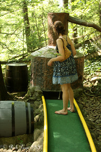 Emily plays minigolf - Gatlinburg, TN ... August 2, 2011 ... Photo by Rob Page III