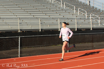 Nicole speeds tothe finish line - Chalfont, PA ... November 24, 2011 ... Photo by Heather Fairley