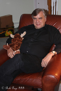 Dad hangs out with the moose - Chalfont, PA ... November 24, 2011 ... Photo by Rob Page III