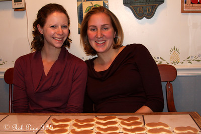 Emily and Heather enjoy their cookie spread - Chalfont, PA ... November 24, 2011 ... Photo by Rob Page III