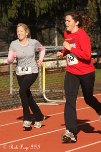 Having fun in the 5K - Chalfont, PA ... November 24, 2011 ... Photo by Heather Fairley