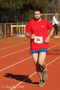 Tim makes his way to the finish line - Chalfont, PA ... November 24, 2011 ... Photo by Heather Fairley