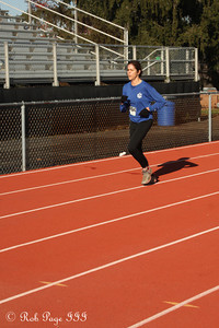 Patti nears the finish line - Chalfont, PA ... November 24, 2011 ... Photo by Heather Fairley