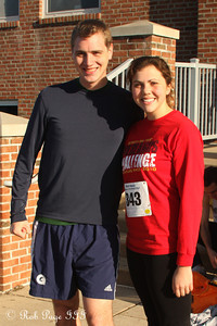 Rob and Leah before the race - Chalfont, PA ... November 24, 2011 ... Photo by Heather Fairley