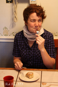 Chelsea enjoys a sticky bun - Chalfont, PA ... November 24, 2011 ... Photo by Rob Page III