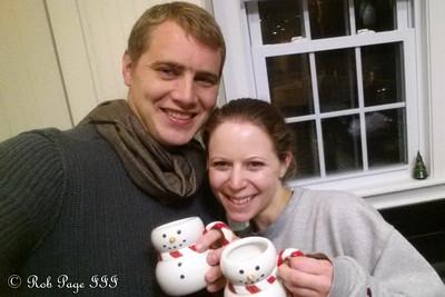 Rob and Emily enjoying a snowman shot - Washington, DC ... December 5, 2014 ... Photo by Rob Page III