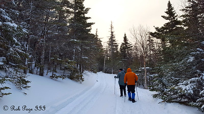 Heather and Dad enjoy an evening hike - White Mountain National Forest, NH ... January 28, 2017 ... Photo by Rob Page III