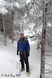 Rob, hiking the Lions Head Trail - White Mountain National Forest, NH ... January 28, 2017 ... Photo by Heather Page
