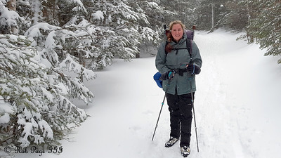 Heather hiking - White Mountain National Forest, NH ... January 28, 2017 ... Photo by Rob Page III