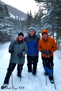 Heather, Rob, and Dad enjoying the winter weather - White Mountain National Forest, NH ... January 28, 2017 ... Photo by Scott Faithful