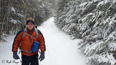 Dad, heading up the Lions Head Trail - White Mountain National Forest, NH ... January 28, 2017 ... Photo by Rob Page III