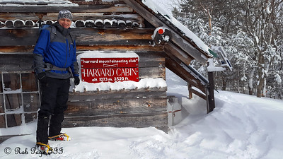 Rob at the Harvard Cabin - White Mountain National Forest, NH ... January 28, 2017 ... Photo by Heather Page