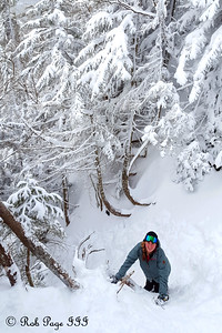 Heather heads down the Lions Head - White Mountain National Forest, NH ... January 28, 2017 ... Photo by Rob Page III