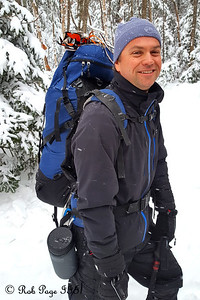 Scott enjoys the wintery weather - White Mountain National Forest, NH ... January 29, 2017 ... Photo by Rob Page III