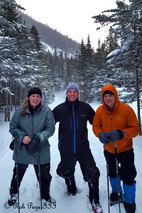 Heather, Scott, and Dad enjoy the winter weather - White Mountain National Forest, NH ... January 28, 2017 ... Photo by Rob Page III