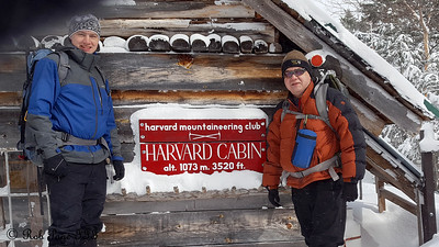 Rob and Dad at the Harvard Cabin - White Mountain National Forest, NH ... January 28, 2017 ... Photo by Scott Faithful