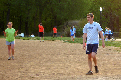 Rob playing kickball for the lime team - Washington, DC ... April 30, 2007 ... Photo by Sarah Renner