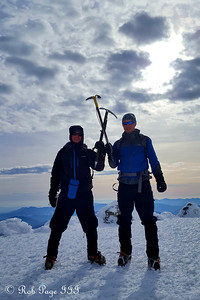 Rob and Scott at the summit of Mt. Washington - Gorham, NH ... January 27, 2018 ... Photo by Heather Page